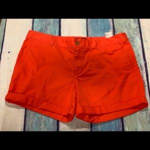 5pocket orange banana republic shorts